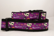 Day of the Dead dog collar