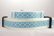Christmas dog collar with snowflakes