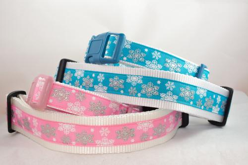 Flash Snowflake dog collar