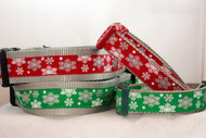 Red or Green Flashy Flakes collar