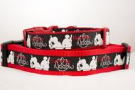 I Love You dog collar