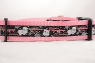 "Hippopotamus For Christmas - Black 1 or 1.5"" wide Dog Collar"