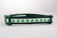Green collar for Christmas