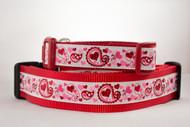 Valentine's Day Heart dog collar
