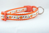 Pumpkin dog collar