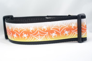 "Candy Corn Glow Web Dog Collar 2"" wide"