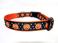 Halloween pumpkin dog collar