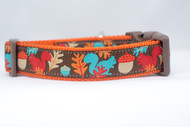 Fall leaves dog collar
