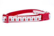 Blue Holiday Tree Cat Collar