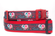 Valentine's Day dog collar for large dogs.