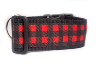 "Buffalo Plaid Dog Collar 2"" wide"