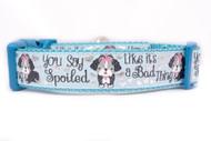 Spoiled dog collar