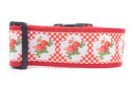 "Lattice Floral Dog Collar 2"" wide"