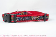"Fireworks Dog Collar - 1/2, 5/8, or 3/4"" wide"