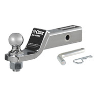 """CURT Loaded Ball Mount with 2 Inch Receiver (Includes 1 7/8"""" trailer ball, pin & clip 