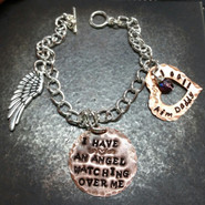 I Have An Angel Copper Circle w/ Copper Open Heart Bracelet