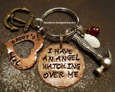 I Have An Angel All Copper Key Chain