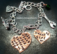 His Wings Were Ready Copper Funky Heart w/ Solid Copper Heart