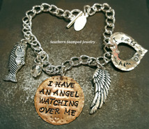I Have An Angel Copper Circle w/ Silver Open Heart