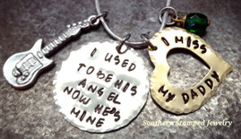 I Used To Be His Angel Silver Circle w/ Brass Open Heart