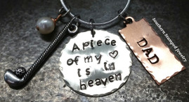 A Piece Of  My Heart Silver Circle w/ Copper Tag