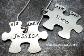 Puzzle Pieces Her One His Only