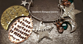 Love Between A Mother & Daughter/To The Moon And Back Mixed Metals, 2 Stars
