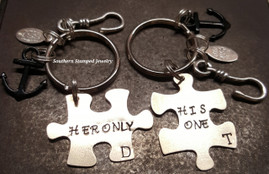 His One Her Only Key Chain Set