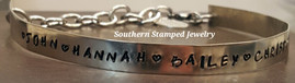 Silver Family Cuff Bracelet