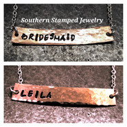 Reversible Bridesmaid's Bar Necklace