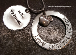Love Inspire Teach, Teacher Appreciation Necklace