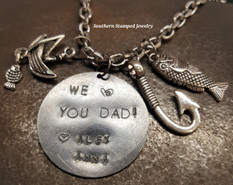 Love You Dad Black Metal Rear View Mirror Charm