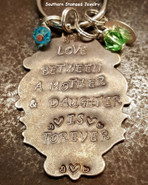 Love Between A Mother And Daughter Silver Lettering
