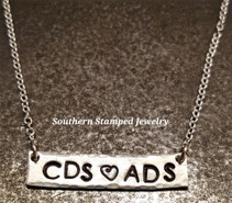 Tiny Sterling Silver Bar Necklace