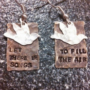 Let There Be Songs Bird Earrings