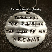 Thank You For Raising Silver Circle Necklace
