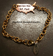 Dream Big Go Far Copper USA w/ Brass Bracelet