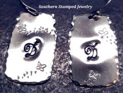 Mason Jar Earrings w/ Butterflies