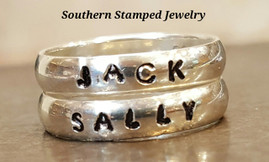 2 Sterling Silver Stackable Rings