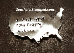 I Just Miss You That's All Silver USA Magnet