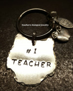 Silver Owl #1 Teacher Key Chain