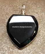 Black Glass Heart Shaped Urn