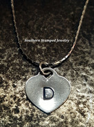 Sterling Silver Locket Style Heart On Fine Sterling Silver Chain