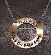 Brass Washer Necklace