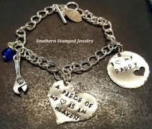 A Piece Of My Heart Silver Heart w/ Silver Circle Cut Out Heart Bracelet