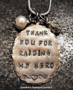 Thank You For Raising My Hero Natural Brass Oval