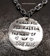 Thank You For Raising Silver Circle Rear View Mirror Charm