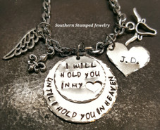 2 Layer I Will Hold You Rear View Mirror Charm