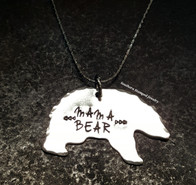 Mama Bear w/ 18 Inch Fine Sterling Silver Chain