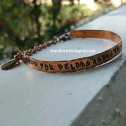 You Belong Among The Wildflowers Tom Petty Lyric Cuff Bracelet
